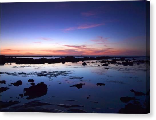 Moss Beach - Fitzgerald Reserve Reflection Canvas Print