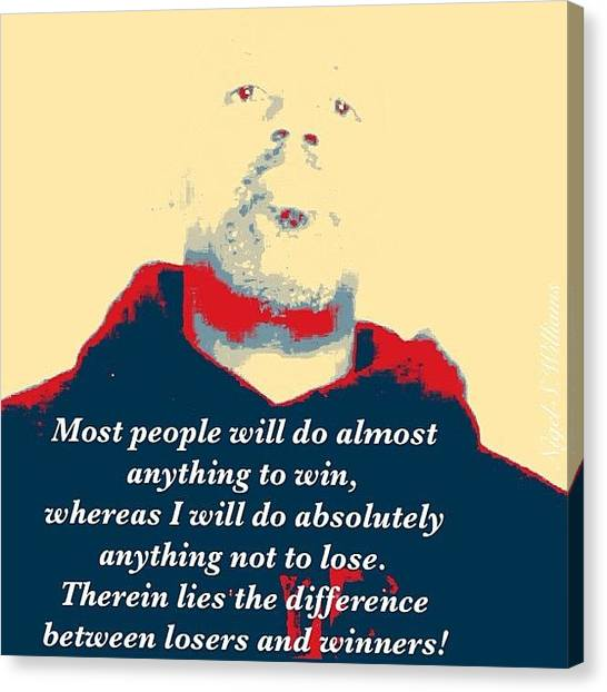 Ufc Canvas Print - Most People Will Do Almost Anything To by Nigel Williams