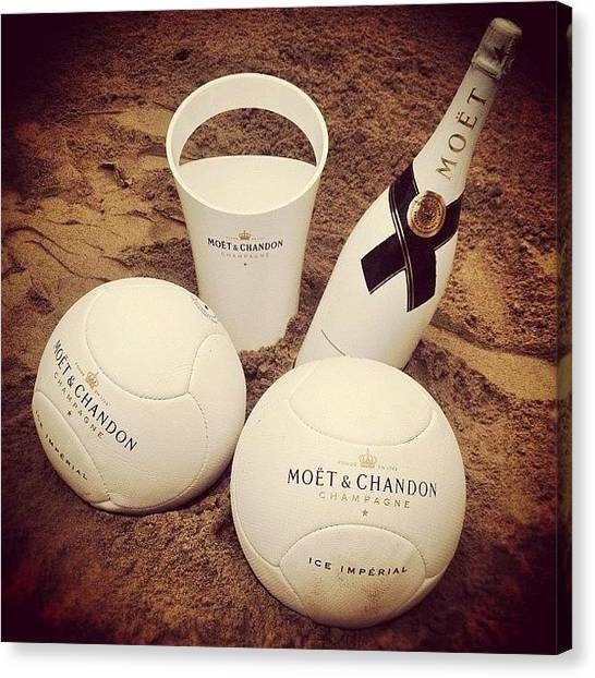 Volleyball Canvas Print - Moët, Sand And Volley... Nice Trio! :) by Tobrook Eric gagnon