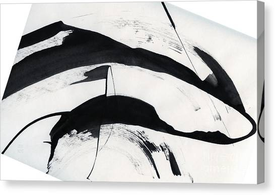 Mother And Baby Dolphins  Canvas Print