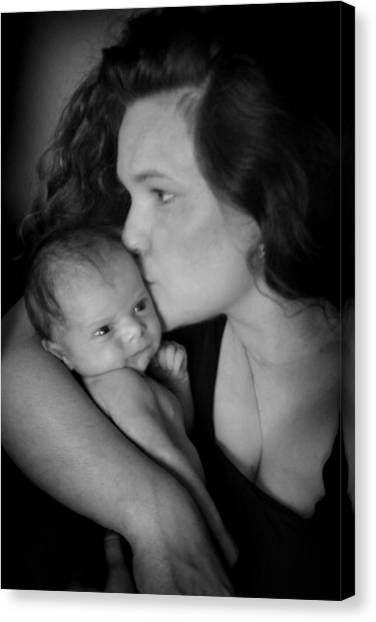 Canvas Print featuring the photograph Mother And Child by Kelly Hazel
