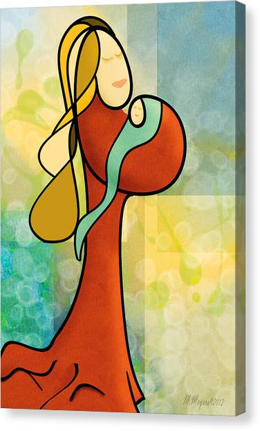 Mother N Child Canvas Print by Melisa Meyers