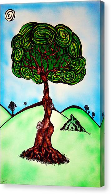 Canopy Canvas Print - Mother's Canopy by Alissa Allery