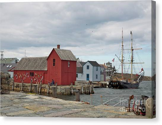 Motif No.1 With Fisherman Canvas Print