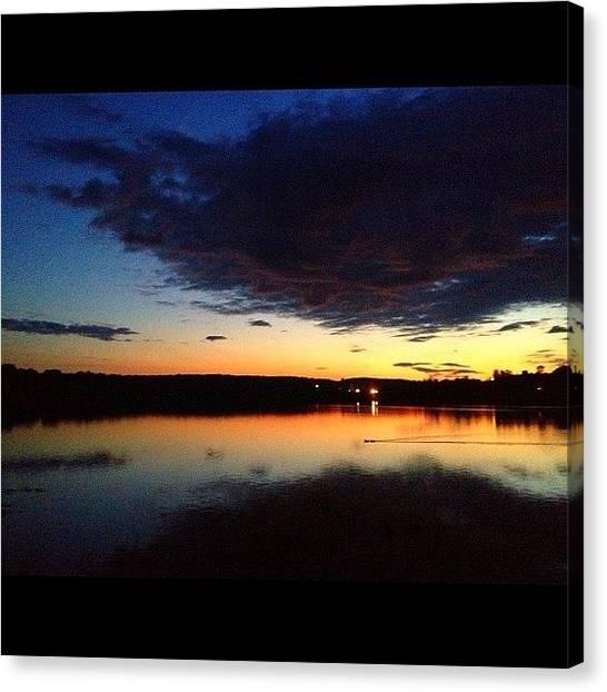 Sunrise Horizon Canvas Print - #motivation To Wake Up, #sunrise by Stevie Carlyle
