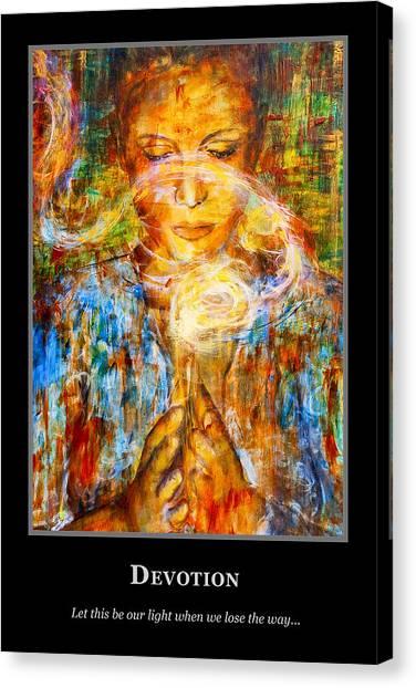 Motivational Devotion Canvas Print