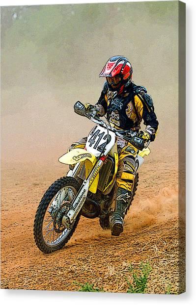 Dirt Bikes Canvas Print - Motocross-3 by Tony Ramos