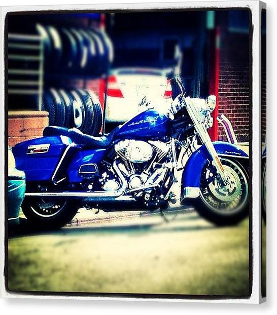 Hogs Canvas Print - Motorcycle by Kim Kay