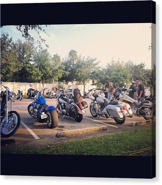 Biker Canvas Print - #motorcycles #motorcycle #bikenight by S Smithee