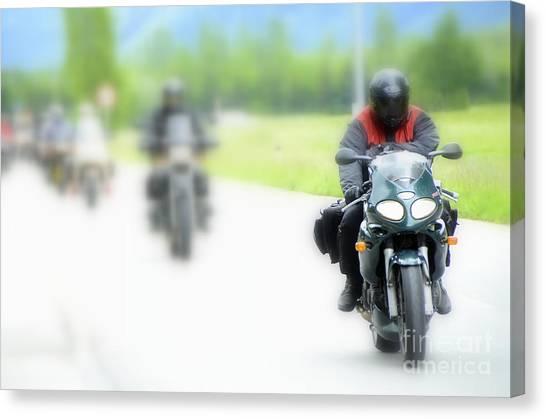 Motorcyclists Canvas Print
