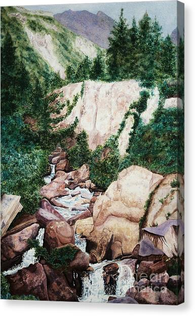 Mounrain Creek Falls Canvas Print by Vikki Wicks
