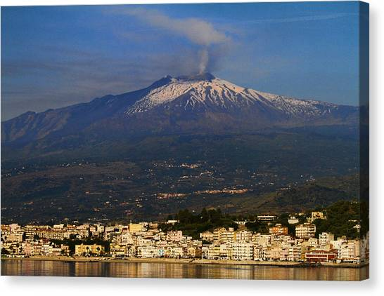 Mount Etna Canvas Print - Mount Etna by David Smith