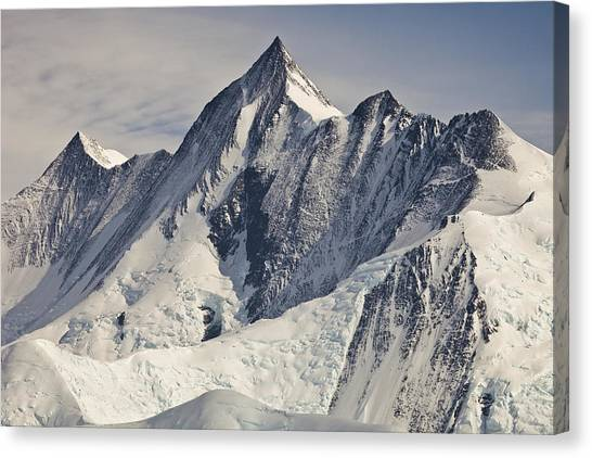 Mountains Canvas Print - Mount Herschel Above Cape Hallett by Colin Monteath