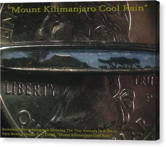Mount Kilimanjaro Cool Rain  Canvas Print