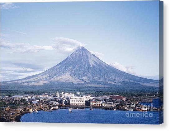 Mayon Canvas Print - Mount Mayon Behind Legaspi, Philippines by Edward Drews