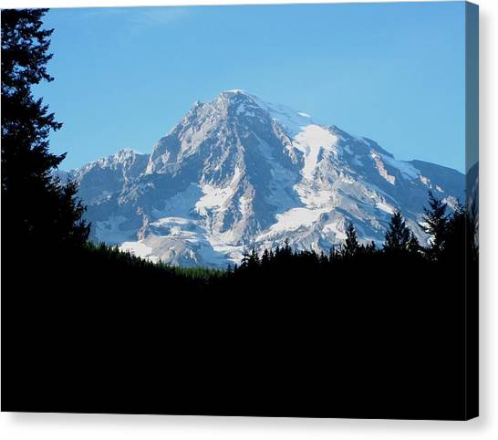Mount Rainier 11 Canvas Print by Kathy Long