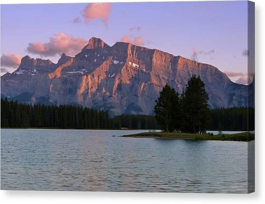 Canada Glacier Canvas Print - Mount Rundle by Bernard Chen