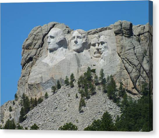 Mount Rushmore From A Different View Canvas Print
