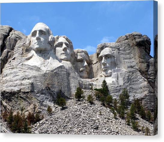 Lincoln Memorial Canvas Print - Mount Rushmore Usa by Olivier Le Queinec