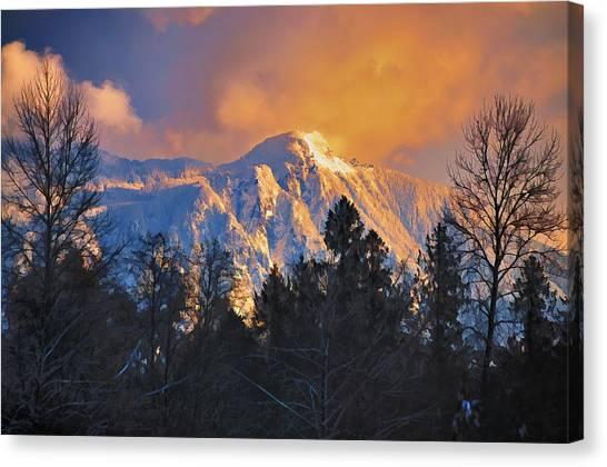 Mount Si Winter Wonder Canvas Print by Scott Massey