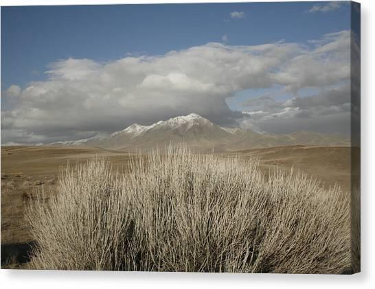 Mountain And Desert Canvas Print