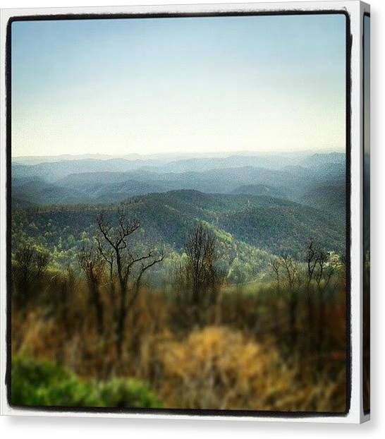 Appalachian Mountains Canvas Print - #mountain #appalachian #blueridge by Virginia Lockman