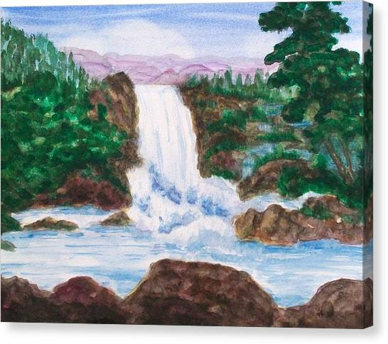 Mountain Falls Canvas Print by Jeanette Stewart