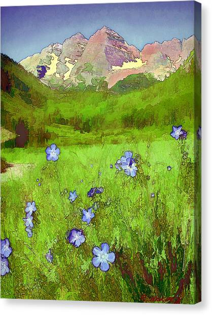 Mountain Flowersketch Canvas Print