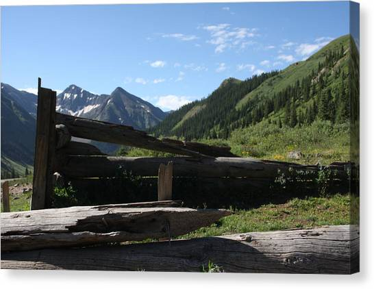 Mountain Ghost Town Canvas Print