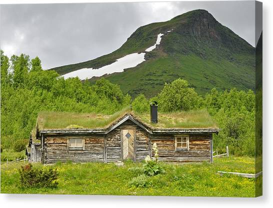 Mountain House Canvas Print by Conny Sjostrom