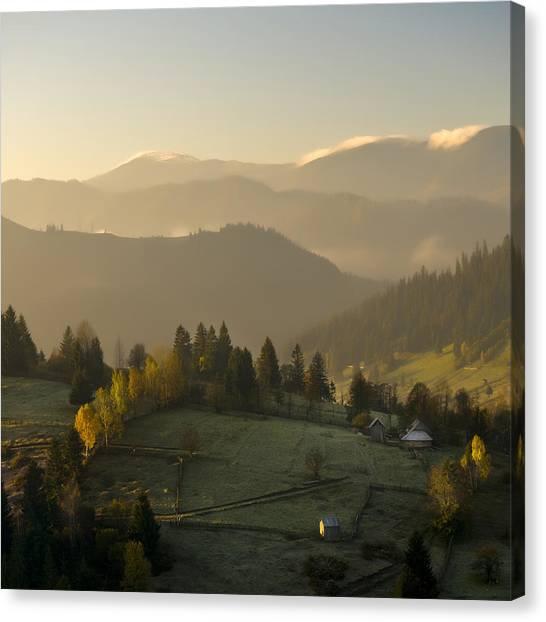 Mountain Landscape Canvas Print by Ovidiu Bastea