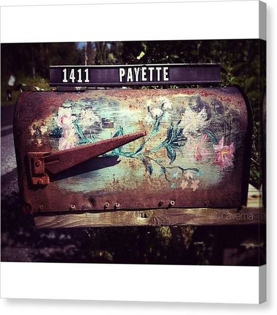 Rust Canvas Print - Mountain Mailbox by Natasha Marco