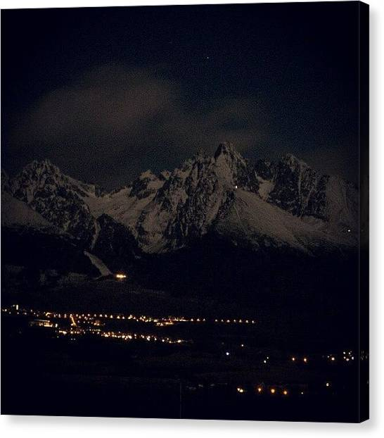 Magicians Canvas Print - #mountain #night #light #sky #star by Jakub Barabas