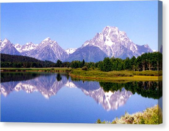 Mountain Reflections Canvas Print by Carolyn Ardolino