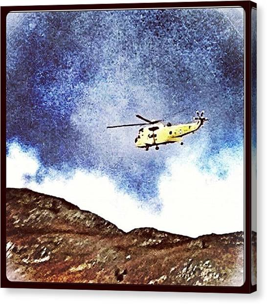 Helicopters Canvas Print - Mountain Rescue! Not For Us Fortunately by Polly Rhodes