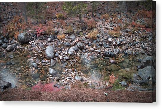 Natural Landscapes Canvas Print - Mountain River by Naxart Studio