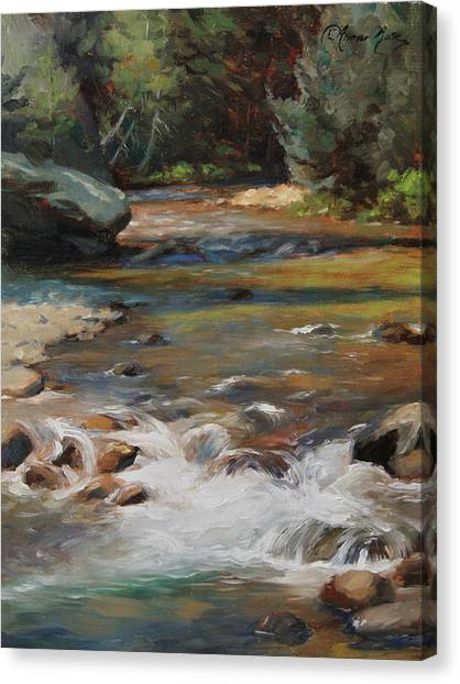 Baseball Teams Canvas Print - Mountain Stream by Anna Rose Bain