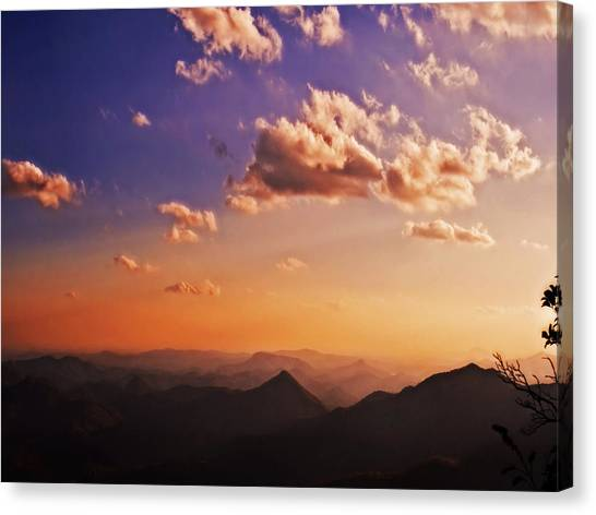 Mountain Sunset Canvas Print
