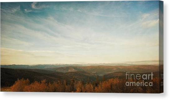 Mountainscape Canvas Print - Mountains As Far As The Eye Can See by Priska Wettstein