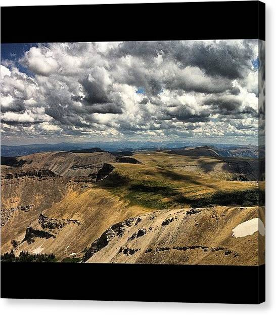 Wyoming Canvas Print - #mountains #mountain #summit by Niels Rasmussen