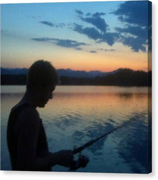 Lake Sunrises Canvas Print - #mountains #mountain #sunset #sky by Zack Martin