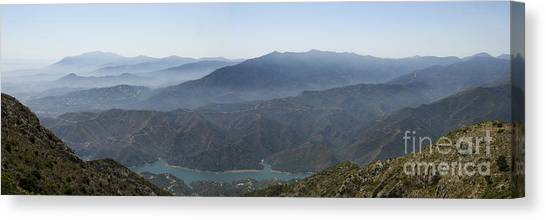 Mountains Of Spain Canvas Print by Perry Van Munster