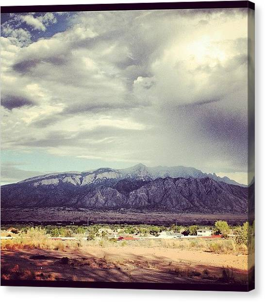 Watermelons Canvas Print - #mountains #sandia #sandias by Mario Pena