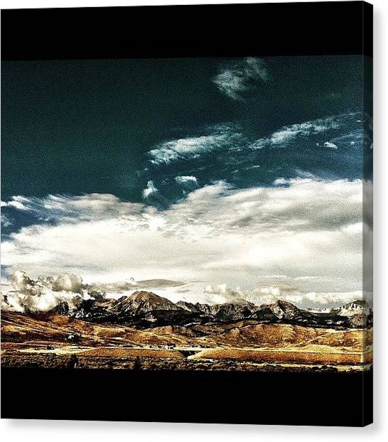 Wyoming Canvas Print - Mountains Win Again by Lisa King