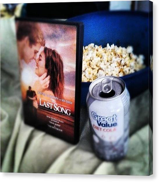 Popcorn Canvas Print - Movie Day (: !!!!! #lastsong #popcorn by Kylie Christena