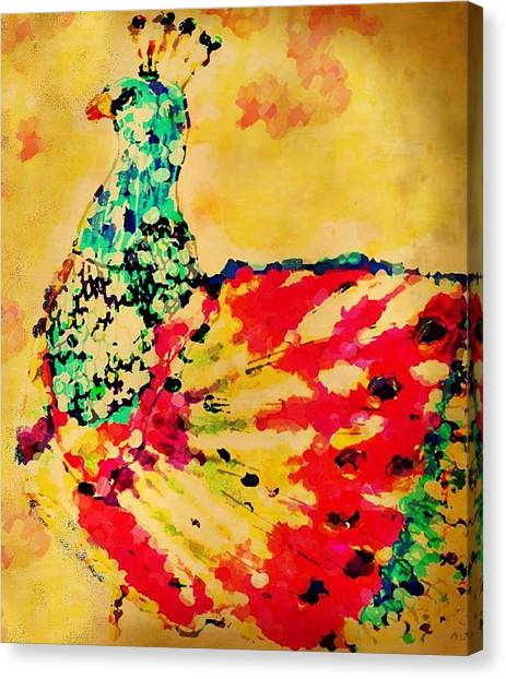 Mprints - Pretty  Peacock Canvas Print