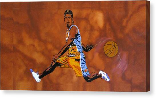 Phoenix Suns Canvas Print - Mr Assist Steve Nash by Bill Manson
