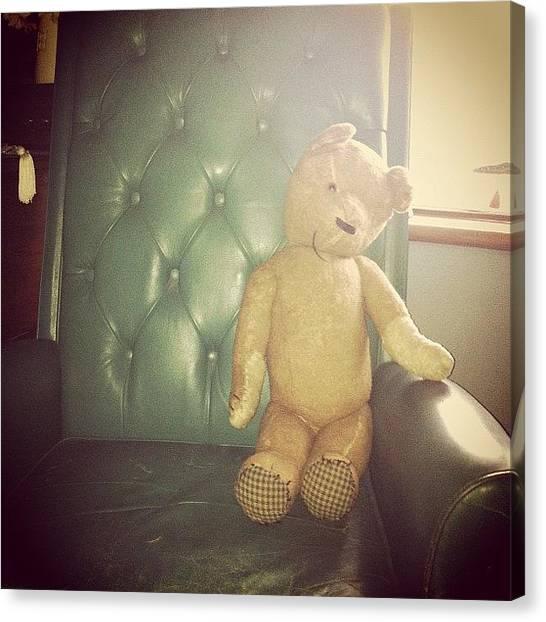 Teddy Bears Canvas Print - Mr. Bear by Chloe Pattenden
