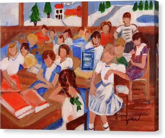 Mrs. Chamberlain's Fifth Grade In Canajoharie Canvas Print