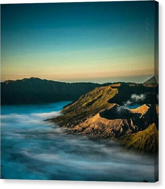 Volcanoes Canvas Print - Mt. #bromo  #volcano by Leanna Chong